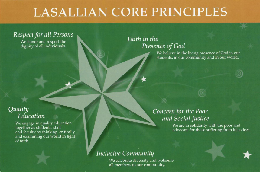 image of Lasallian star with each point explained